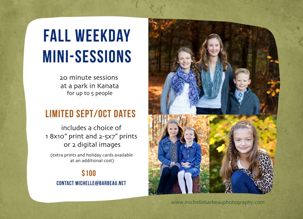 Ottawa Fall mini sessions 2014